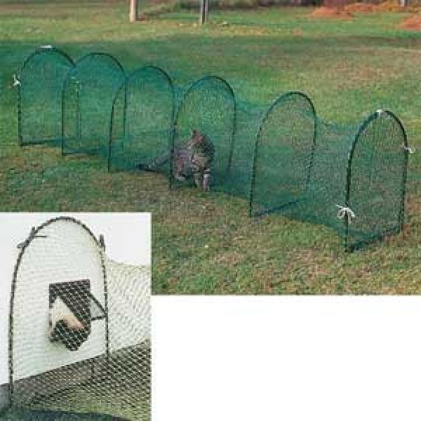 One Man Portable Enclosures : Kittywalk outdoor cat run lawn version