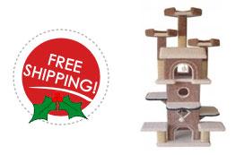 free shipping on sleepy hollow cat tree