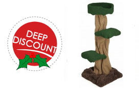 deep discount on mushroom with tub cat tree