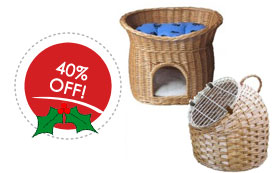 40 percent off cat caddy and woven cat carrier
