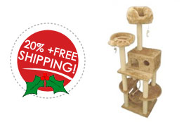 20 percent off cat furniture and free shipping