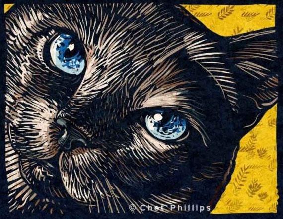 cat themed art