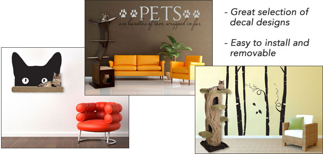 Cat Themed Wall Decals - Wall decals on furniture