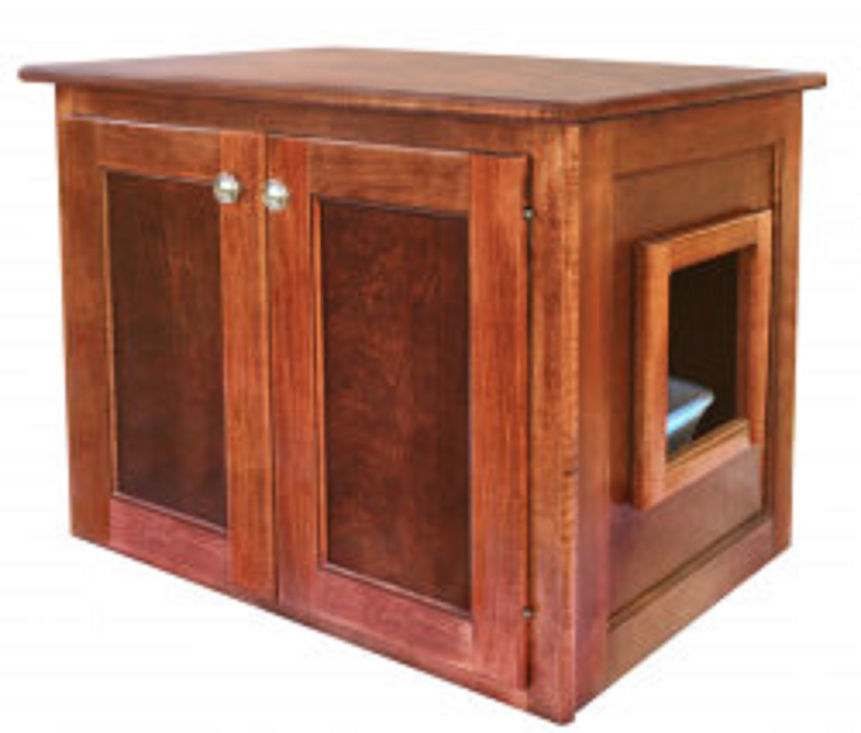Amish Made Cat Litter Box Cabinet (Large)