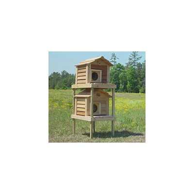 17 Inch Cedar Cat Townhouse