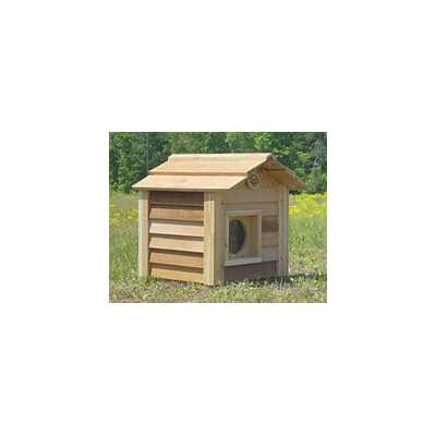 17 Inch Cedar Cat House