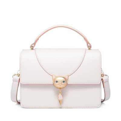 Gold Cat Tassel PU Leather Crossbody Handbag