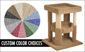 carpeted cat furniture color choices