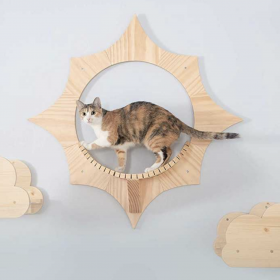 Give Your Cat the Moon, the Sun & the Stars with these Whimsical Cat Wall Shelf Components
