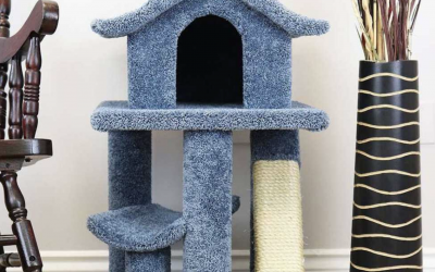 Absolutely incredible cat trees that look like Pagodas - Must See