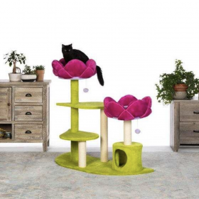 New Product Alert! Stunning Pink Lotus Flower Themed Cat Trees!