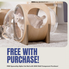 FREE Spaceship Alpha Cat Bed with Purchase of Cat Wall Components!