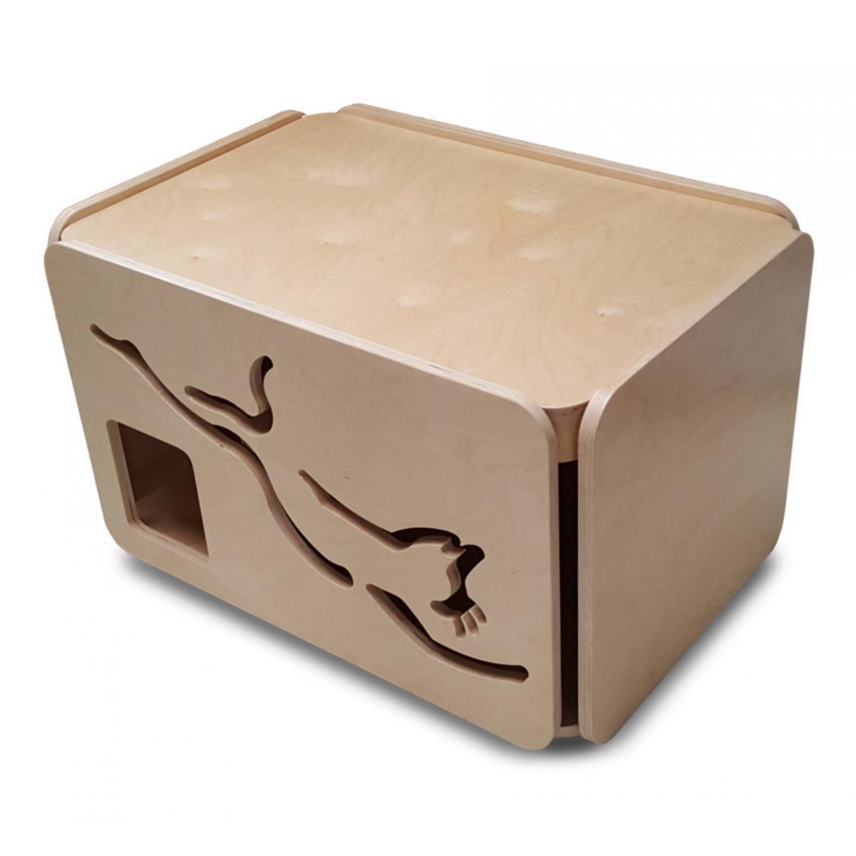 Artisan Made Baltic Birch Cat Litter Box Standard Size