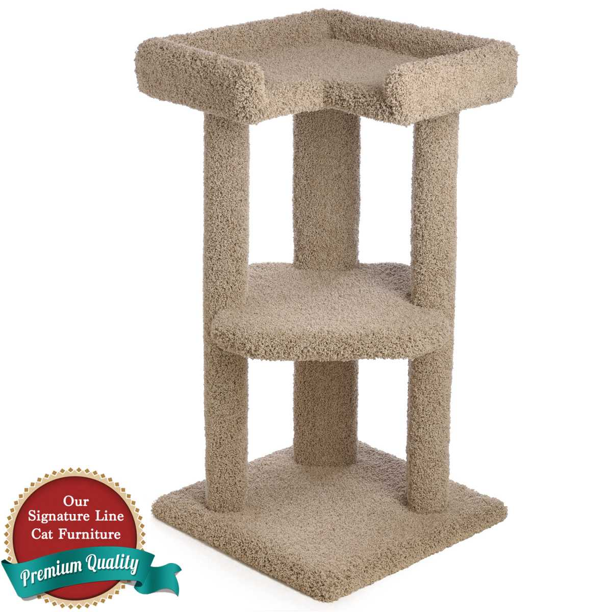 39 Inch Tri-Level Corner Cat Tree