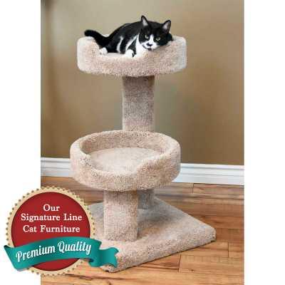Cat's Choice 32 Inch Double Tub Corner Design Cat Tree