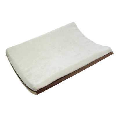 Curve Wall Cat Bed - Walnut/Cream