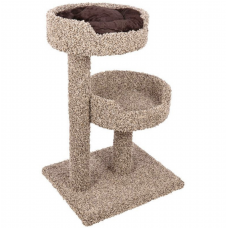 2 Story Cat Perch Tree with Plush Donut Bed