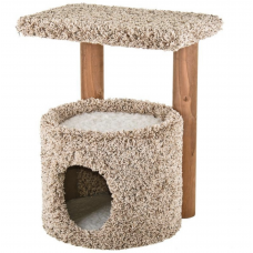Kitty Condo and Perch with Solid Wood Posts