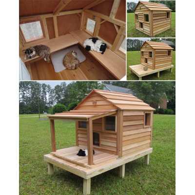 Cool Cedar Cat Cottage