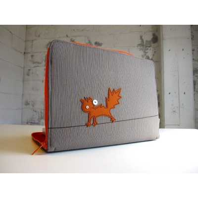 Cat Themed Macbook or Laptop Case - Cat on a Wire
