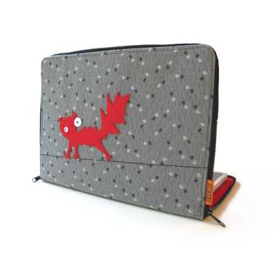 Cat Themed Macbook or Laptop Case - Red Cat on a Wire