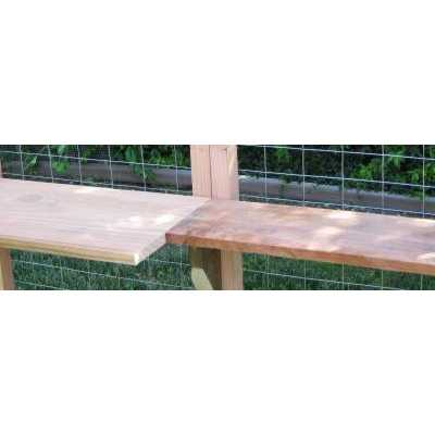 Additional Shelves for Outdoor Redwood Cat Enclosure