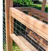 Kitty Tunnel for Outdoor Redwood Cat Enclosure