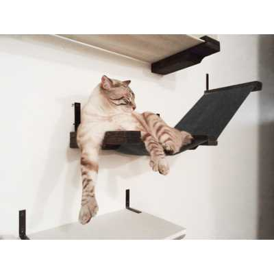 CatastrophiCreations  Stretched Fabric Raceway Cat Wall Shelf
