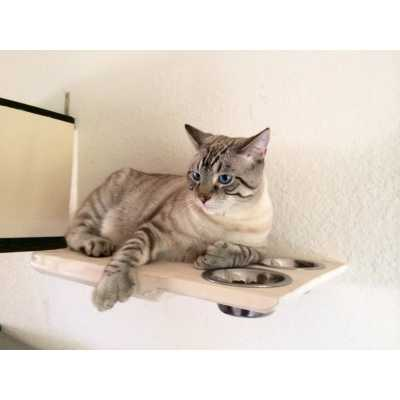 CatastrophiCreations Cat Dining Room Table Wall Shelf Feeder