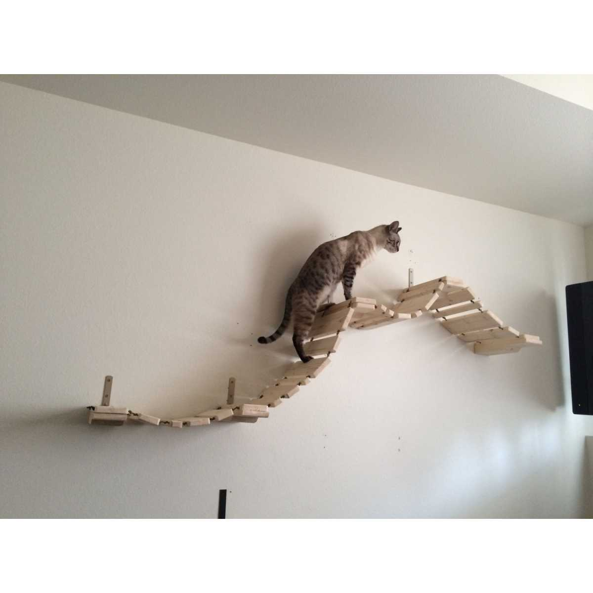 catastrophicreations deluxe cat wall mounted boardwalk bridge. Black Bedroom Furniture Sets. Home Design Ideas