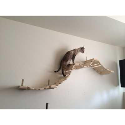 CatastrophiCreations  Deluxe Cat Wall Mounted Boardwalk Bridge