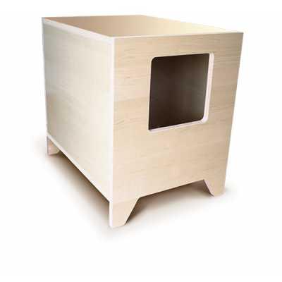 CURIO Modern Cat Litter Box or Pet House - Maple
