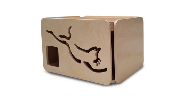 Artisan Made Baltic Birch Cat Litter Box - Standard Size