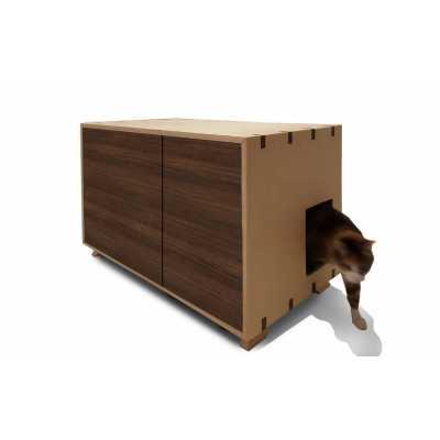 Artisan Made Cat Litter Box with Walnut Doors