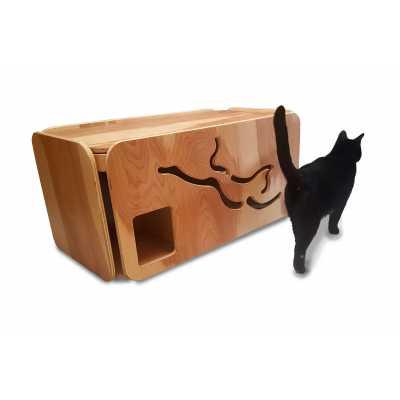 Artisan Made Birch Cat Litter Box - Large Size