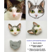 Custom Cat Portrait Necklace