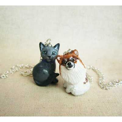 Custom Cat Portrait Necklace - 3D Version
