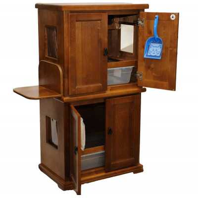 Style F1 BB Two Pan Litter Box Cabinet