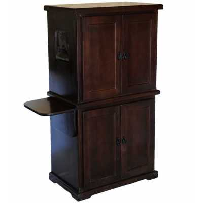 Style BB Double Litter Box Cabinet with the Litter Pan on Top