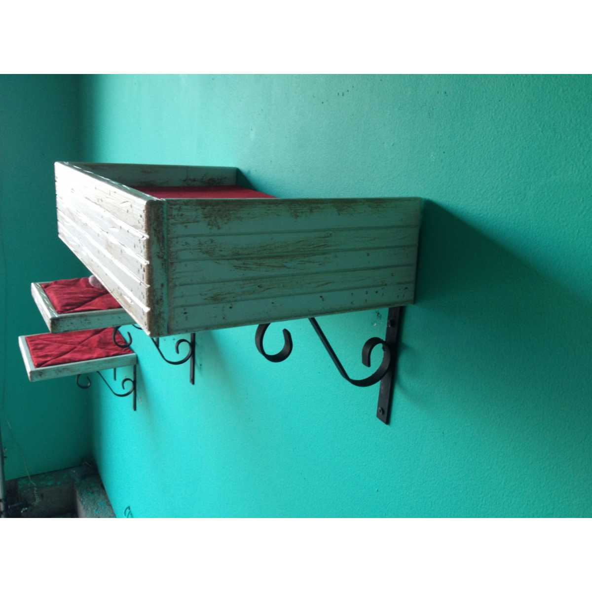 Artisan Made 2 Floating Cat Wall Shelves 1