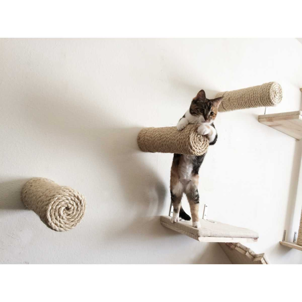 Floating Sisal Cat Wall Post