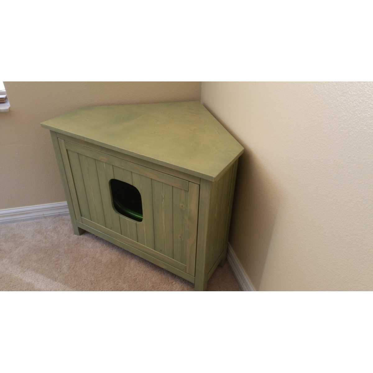 corner cat litter box furniture. Corner Cabinet Cat Litter Box Chest With Odor Absorbing Light Furniture I
