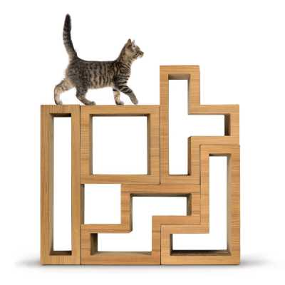 Modular Cat Tree - Wood Teak