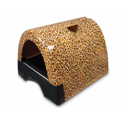 Kitty a Go-Go Designer Cat Litter Box - Leopard Print