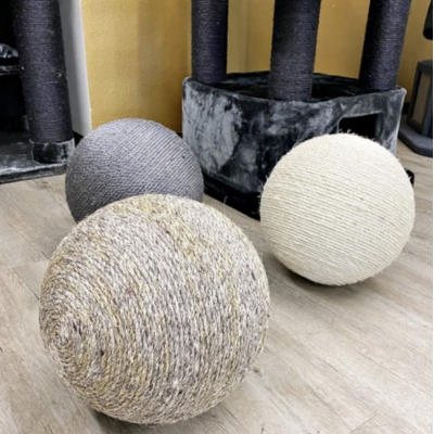 Gigantic Sisal Wrapped Cat Scratch and Play Ball