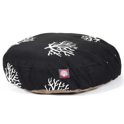 Coral Round Cat or Pet Bed in Multiple Sizes & Colors