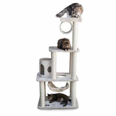 Casita 62 Inch Faux Fur Cat Gym