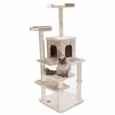 Casita 66 Inch Faux Fur Cat Gym