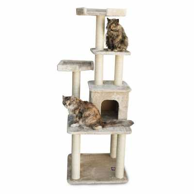 Casita 64 Inch Faux Fur Cat Gym