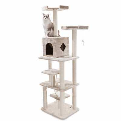 Casita 78 Inch Faux Fur Cat Gym
